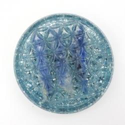 Orgonite Cianite Azul, Flor da vida