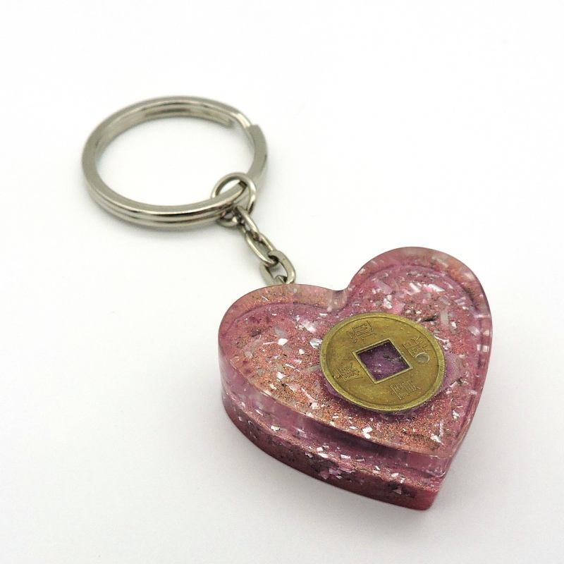 Orgonite Rubi, Porta-Chaves Coração