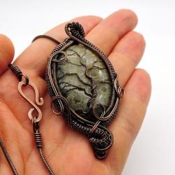 Amuleto Coral Fóssil colar