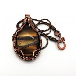 Amuleto Olho de Tigre colar