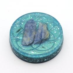 Orgonite Cianite Azul, Semente da Vida