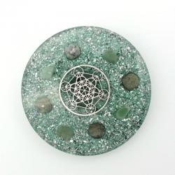 Orgonite Jade Verde e Aventurina Verde, Base para copos