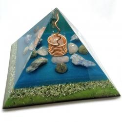 Orgonite Três Pedras Pirâmide Kéops L