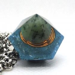Orgonite Jade Verde Colar/Pêndulo