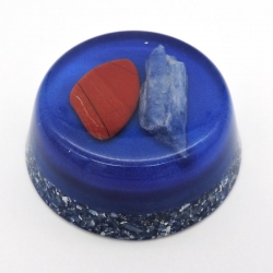 Orgonite Cianite Azul e Jaspe Vermelho, Tower Buster