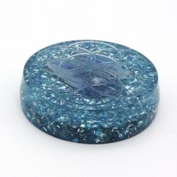Orgonite Semente da Vida Cianite Azul